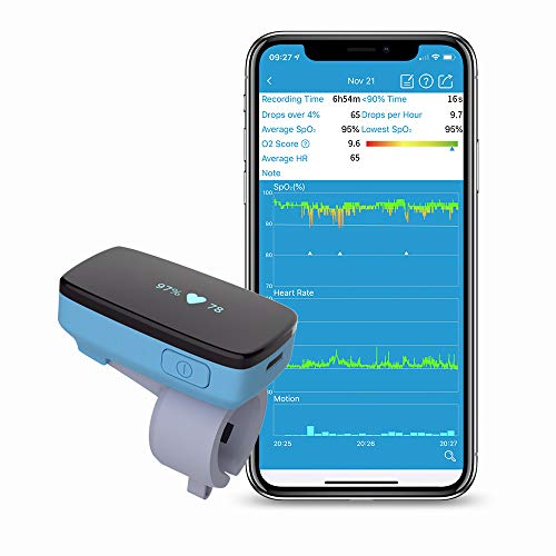 Monitor de oxígeno para dormir con alerta de apnea del sueño -...